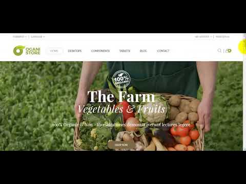 How to install Ogani organic, food, pet, alcohol, cosmetics Opencart theme