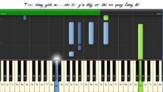 Hướng dẫn bài Chờ ngày mưa tan piano