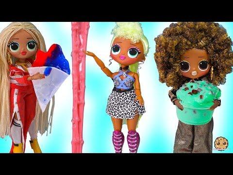 Does It Work ? Real Looking Nickelodeon Slime Diy Maker Set + OMG LOL Surprise Big Sisters