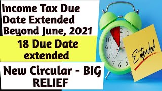 Big Relief    Income tax due date extension    TDS due date extension    Covid relief