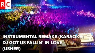 Usher Dj Got Us Falling in Love Again instrumental remake/Karaoke