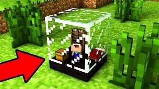 НУБ ПОСТРОИЛ САМЫЙ МАЛЕНЬКИЙ ДОМ В СТЕКЛЯННОМ БЛОКЕ В Майнкрафт! Minecraft троллинг Нуба Мультик Мод