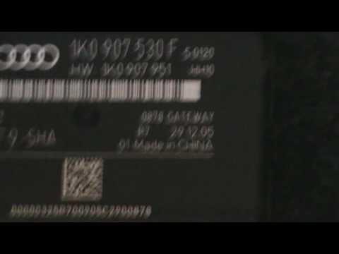 Замена блока сетевого интерфейса на 1K0 907 530 AD