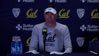 Cal Football UC Davis Post Game - HC Justin Wilcox 8/31/19