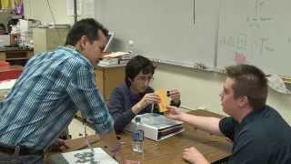 Common Core Demonstration Teacher Tom Pham uses the 5E Model in his...
