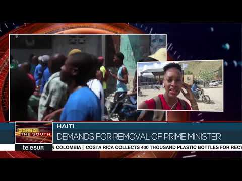 Haiti Protests Burn on