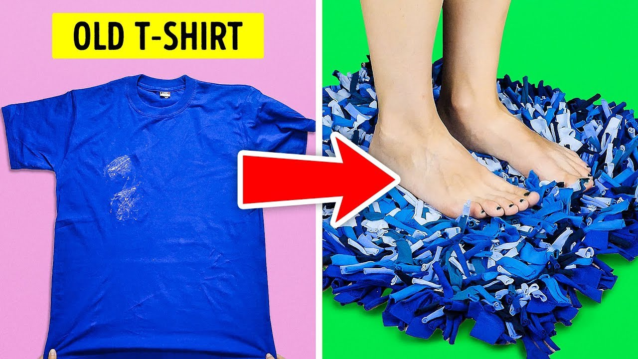 20 New Diy Ideas For Your Old T Shirts Youtube