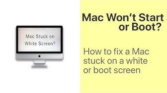 How to Fix Mac White Screen