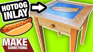 How to Make a Shaker Table with a Hotdog Wood Inlay!
