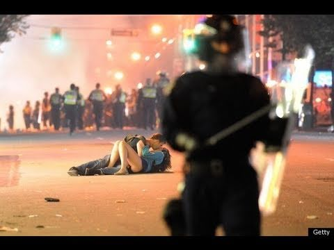The Vancouver Riots And Kissing Couple Make Statement