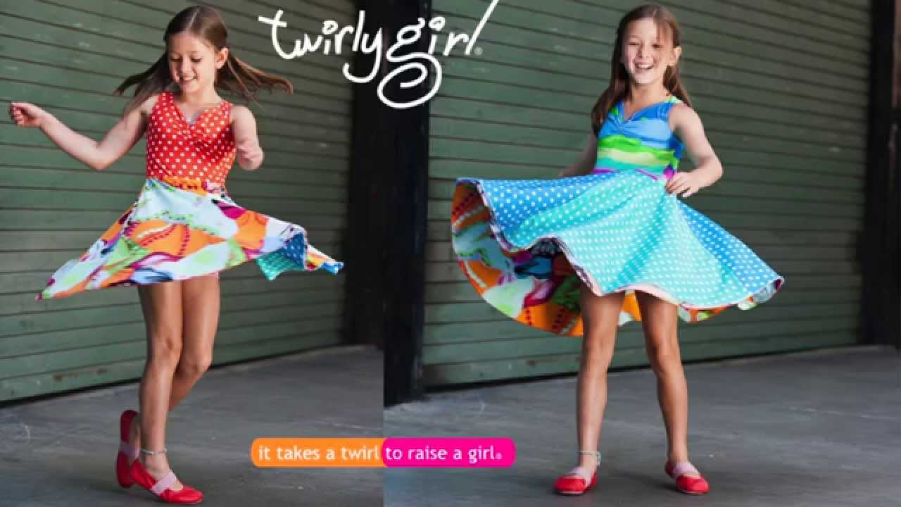be488c9a3 Reversible Twirly Dresses for Girls - YouTube