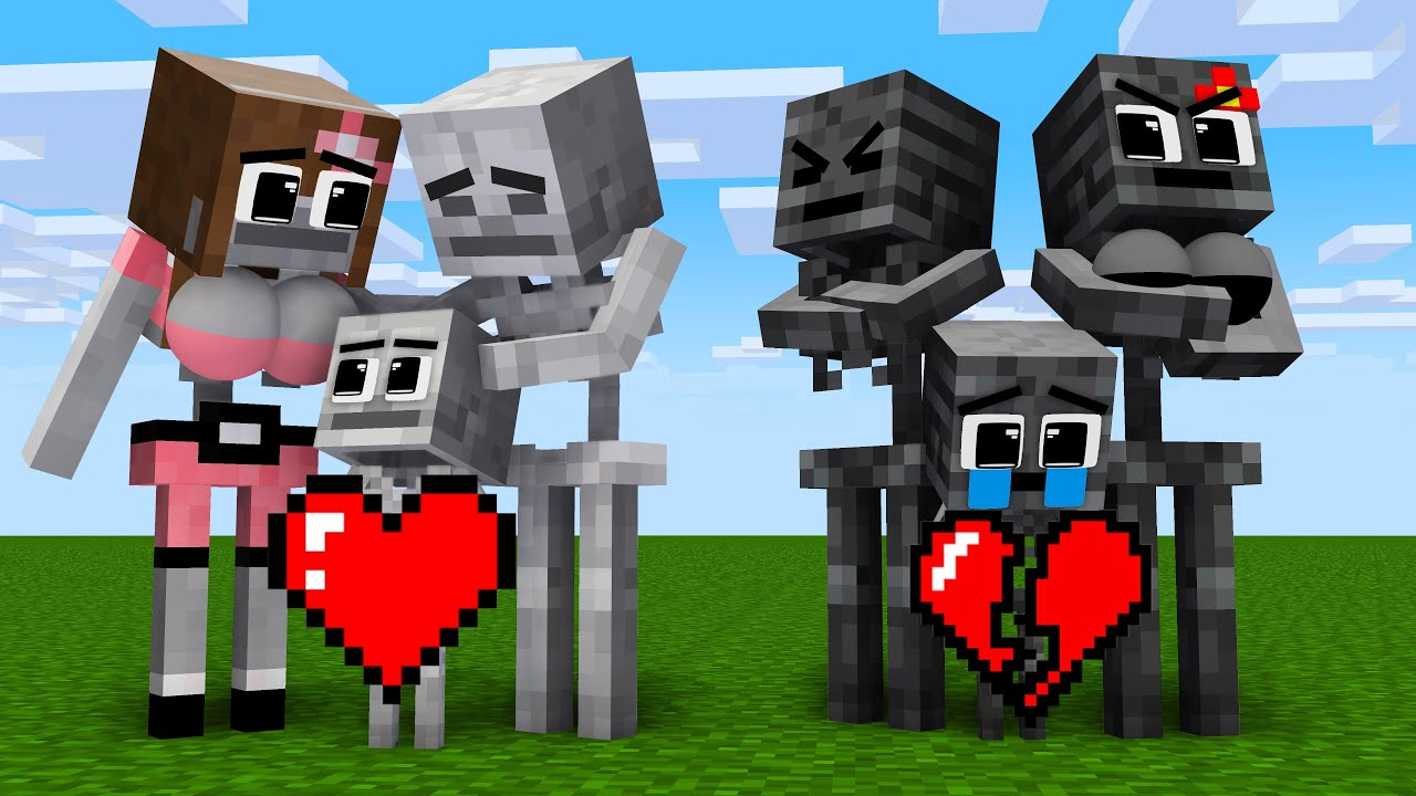 Monster School : Baby Zombie and Mother's Clock From Wither Black - Sad Story - Minecraft Animation