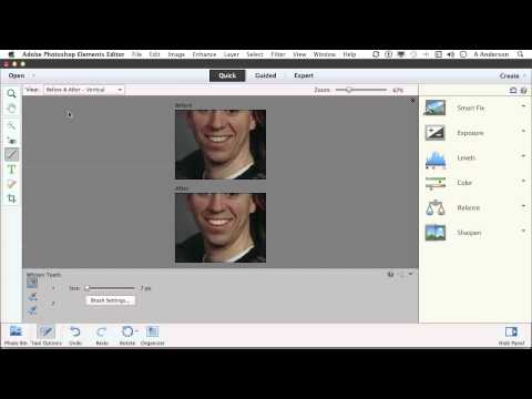 Photoshop Elements 11 Tutorial | You'll Wonder Where The Yellow Went-Whitening Teeth