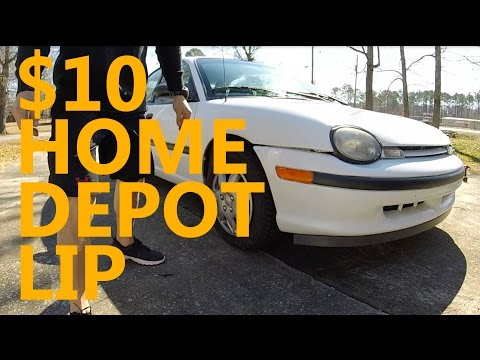 DIY Car Projects: Home Depot Lip