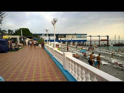 Пляж пансионата Гренада в Лазаревском.
