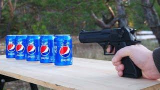 Experiments: Gun vs Сans of Pepsi