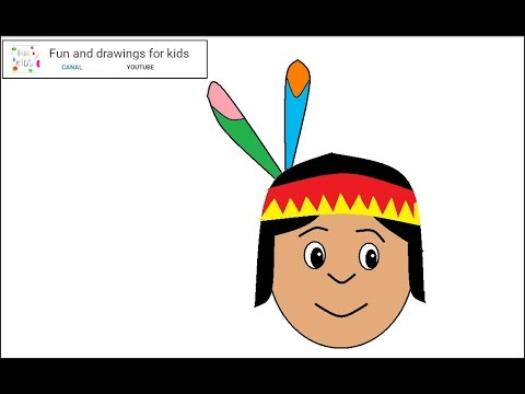 How to draw a Native American boy for children / Nursery rhymes