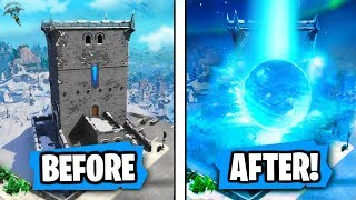 "NEW ""Polar Peak"" is getting ""DESTROYED"" by Ice Ball Says Epic (RIP POLAR PEAK!!)"