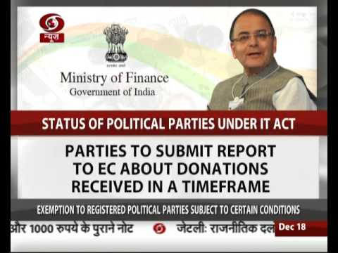 FM: No exemption to any political party after demonetisation