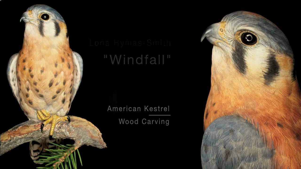 American Kestrel Wood Carvings - YouTube