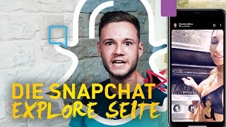 Die Snapchat Explore Seite