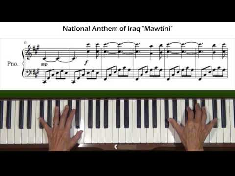 National Anthem of Iraq Mawtini موطني Piano Tutorial