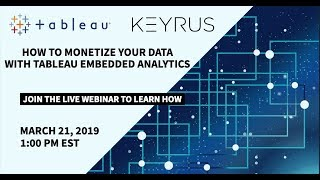 How to monetize your data with Tableau embedded analytics
