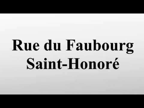 Rue du Faubourg Saint-Honoré