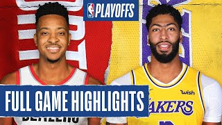 TRAIL BLAZERS at LAKERS | FULL GAME HIGHLIGHTS | August 20, 2020