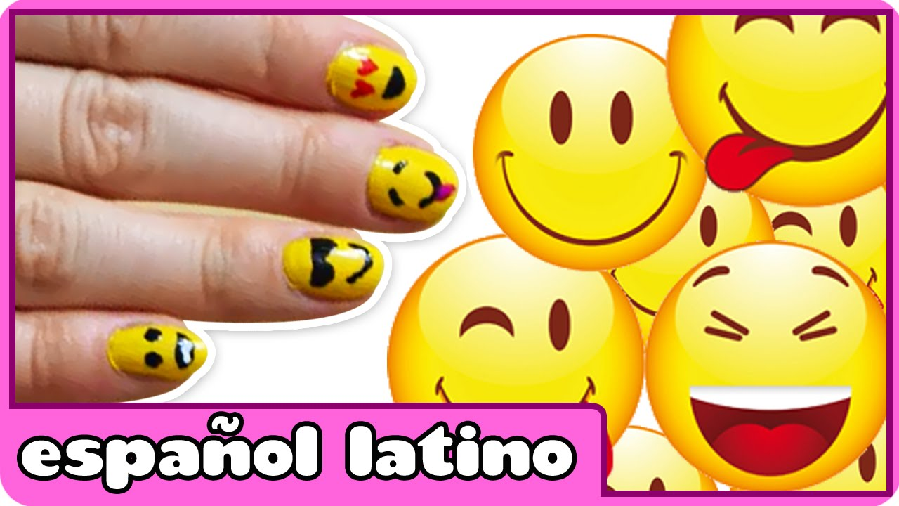 Diseño Para Uñas De Emoji | Emoticon Nail Art by HooplaKidz Latino ...