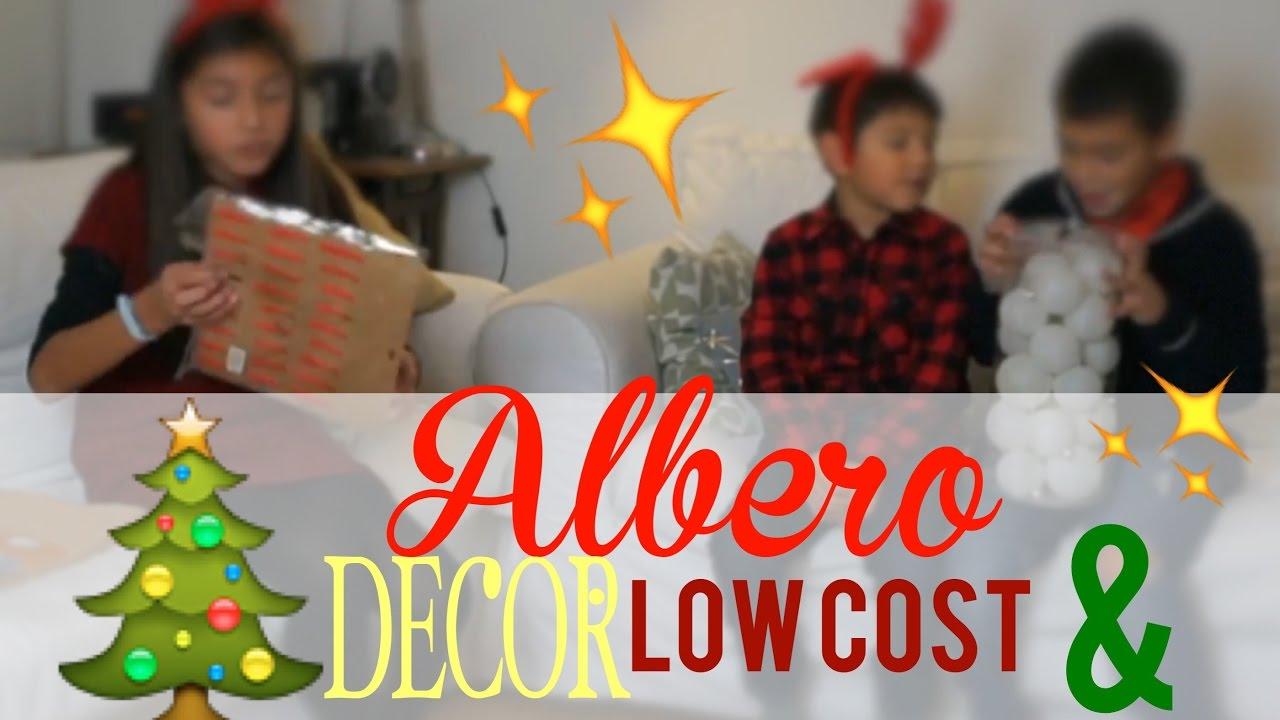 Decorazioni Natalizie Low Cost haul decorazioni natalizie low cost & albero! 🎄