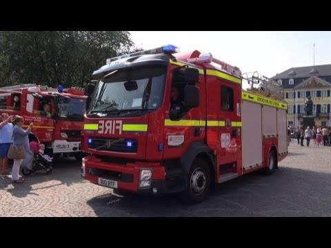 Rescue Engine Fire and Rescue Service Oxford Rewley Road fire station + GW-Licht FF Bonn LE Holzlar