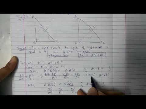 Chapter 6 Theorem 6.7 and Theorem 6.8 || Triangles|| class 10 maths