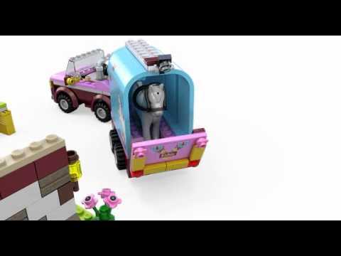 Lego Friends 3186 Emmas Horse Trailer Lego 3d Review Youtube