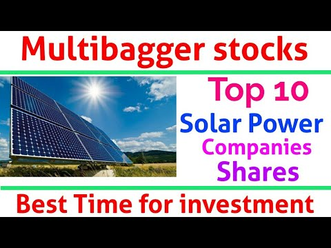 Multibagger Shares - Top 10 Solar Power Companies Share in India
