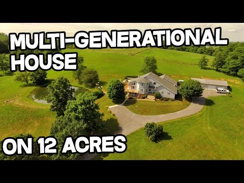 Multigenerational Estate property – multi-generational house for sale, ponds on 12 acres