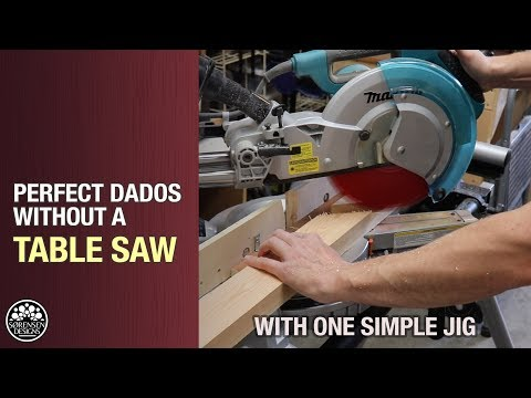Perfect Dados Without A Table Saw // Woodworking Jig