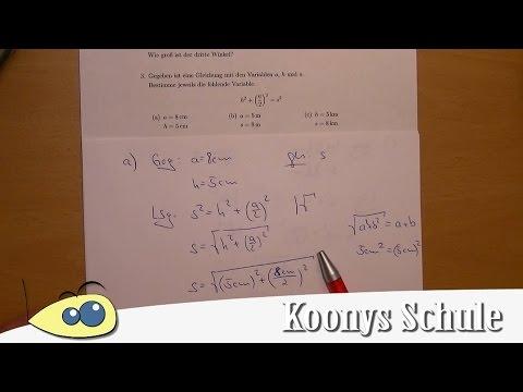 Aufgabe 3 - Gleichung umstellen, Pythagoras, Pyramide | AB 0037 ...