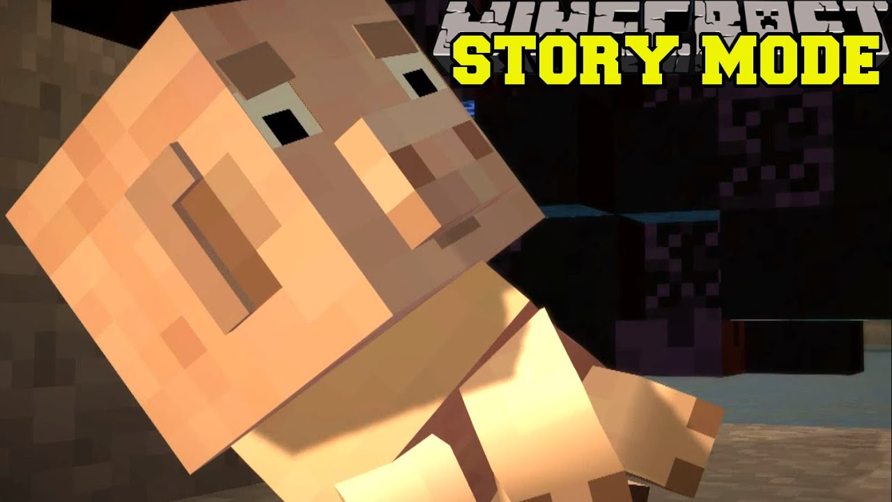Minecraft STORY MODE SADDEST MOMENT IN VIDEO GAME HISTORY - Us map game history channel