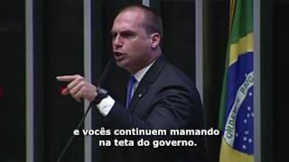 Eduardo Bolsonaro chama esquerdistas de HIPÓCRITAS e pede para brasileiros não irem as ruas dia 28
