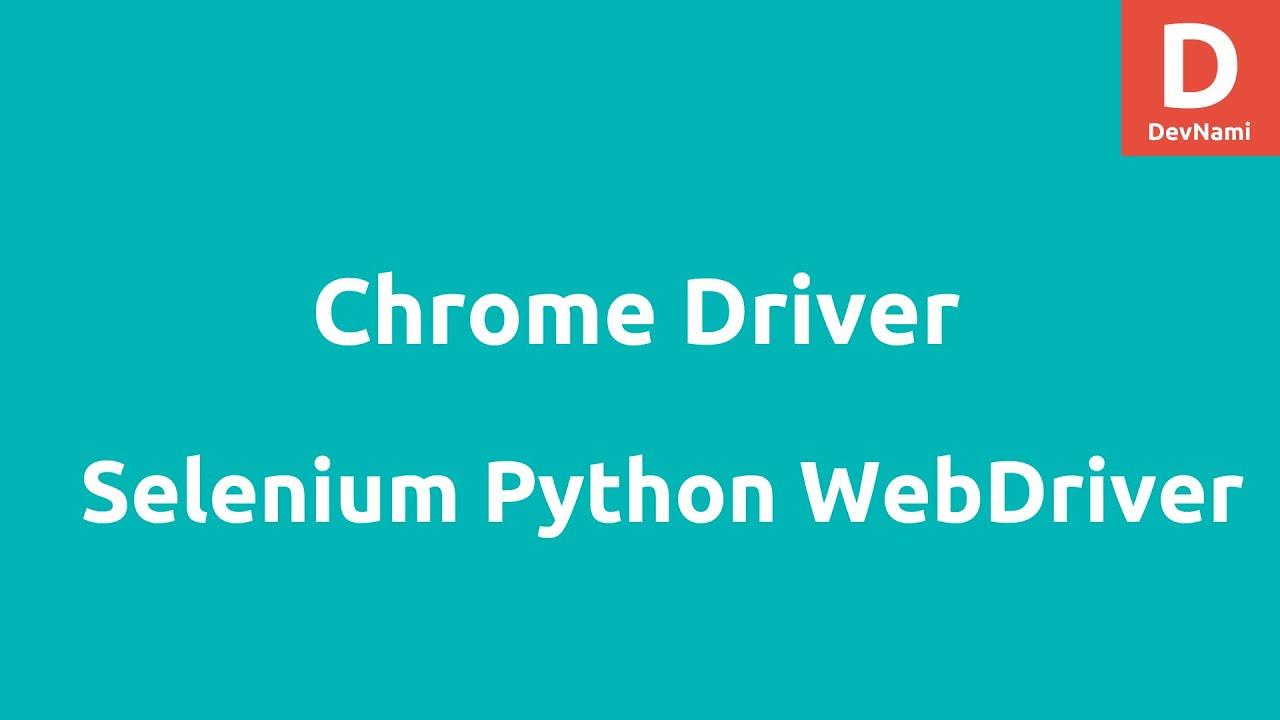 Python Selenium 2 WebDriver for Chrome