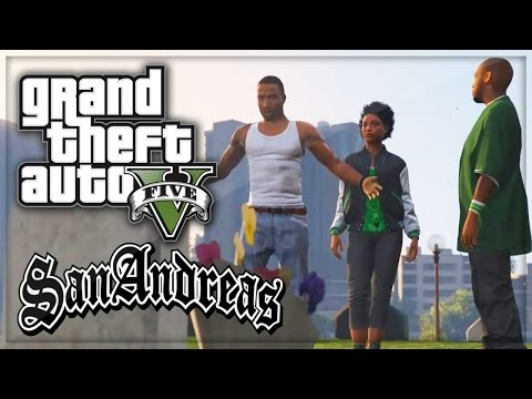 GTA 5: San Andreas Intro Remade Grove Street 4 Life! GTA V Gameplay Machinima