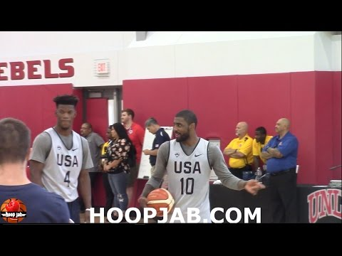 Kyrie Irving VS Jimmy Butler VS Kyle Lowry VS Harrison Barnes 3 Point Contest USA Basketball HoopJab
