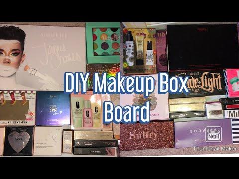 DIY MAKEUP BOX BOARD