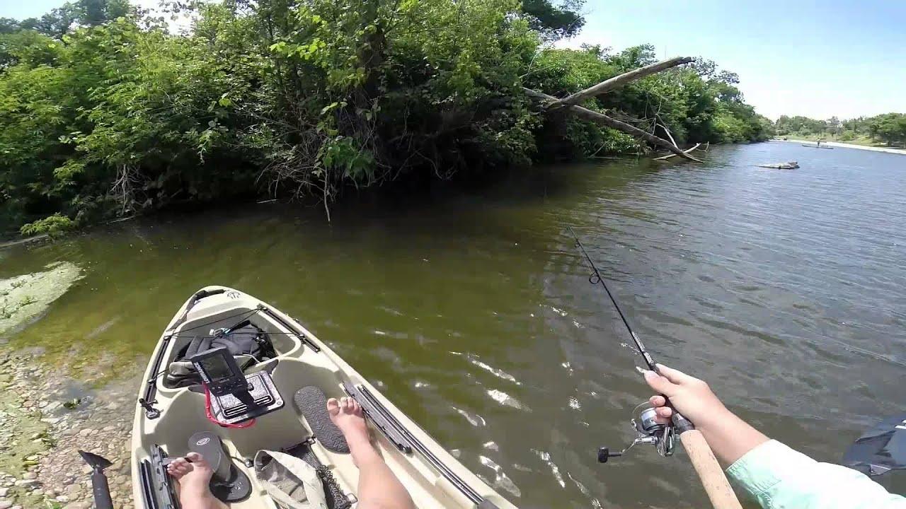 Kayak fishing texas river youtube for River fishing kayak