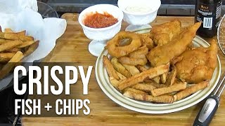 Crispy Fried Fish and Chips recipe