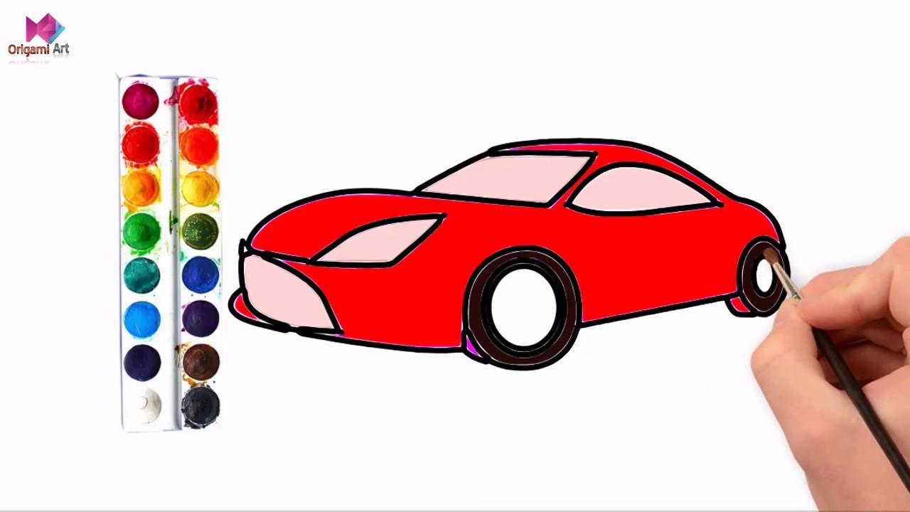 Drawing Car For Kids Drawing Car Kaise Banate Hain Colouring Cars