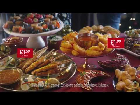 Lidl Christmas Advert 2018 Party Food Selection