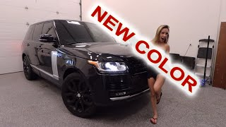 Wrapping My Range Rover In A Super Secret Color!