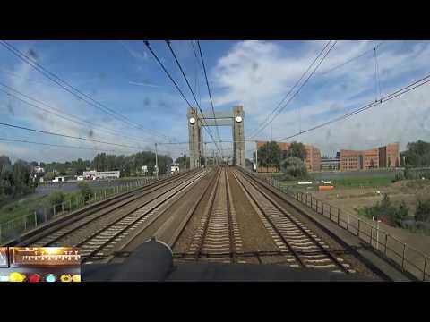 A train driver's view: Den Haag CS - Utrecht CS, ICM, 23-Jun-2017.